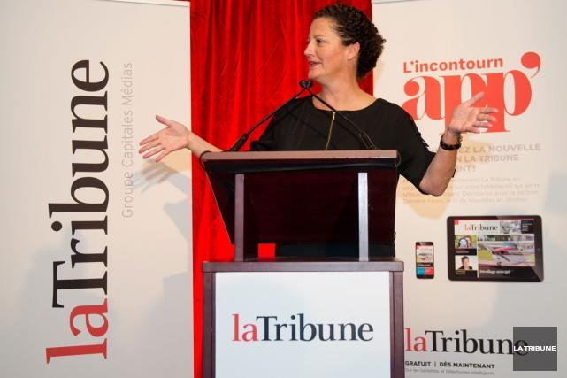 Mardi soir, Louise Boisvert, présidente et éditrice deLa... (Imacom, Jessica Garneau)