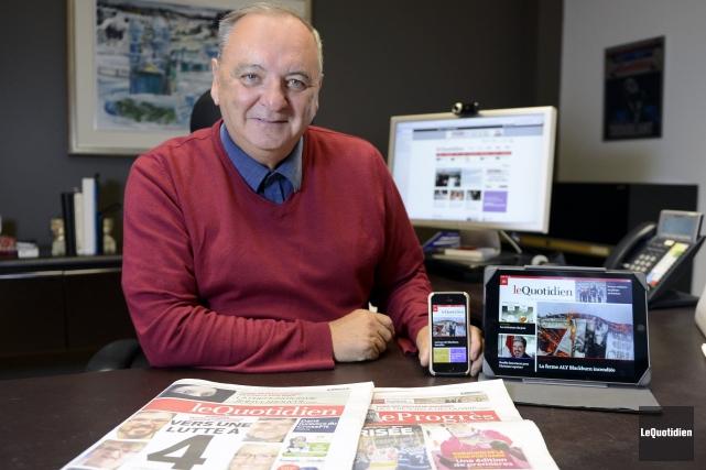 Le président-éditeur du Quotidien et du Progrès-Dimanche, Michel... ((Photo Le Quotidien, Jeannot Lévesque))