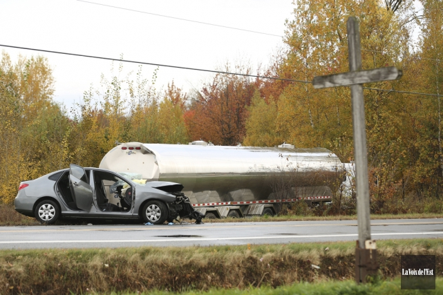 Un accident de la route a coûté la... (Catherine Trudeau, La Voix de l'Est)
