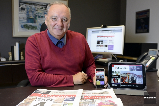 Le président-éditeur du Quotidien et du Progrès-Dimanche, Michel... (Photo Le Quotidien, Jeannot Lévesque)