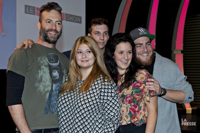 Les membres du nouveau show.... (Olivier Jean, La Presse)