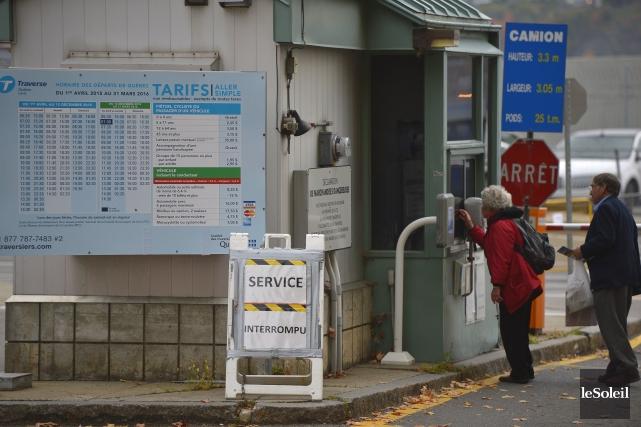 Les usagers de la traverse Québec-Lévis se sont... (Le Soleil, Yan Doublet)