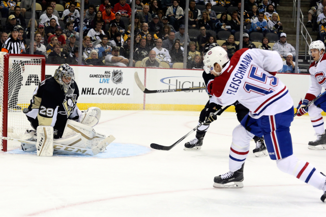 Tomas Fleischmann a marqué le but de la... (Photo Charles LeClaire, USA Today)
