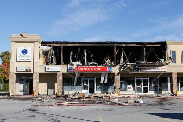 Personne n'avait encore été arrêté, mardi, 48 heures après l'explosion qui a... (Simon Séguin-Bertrand, Archives LeDroit)