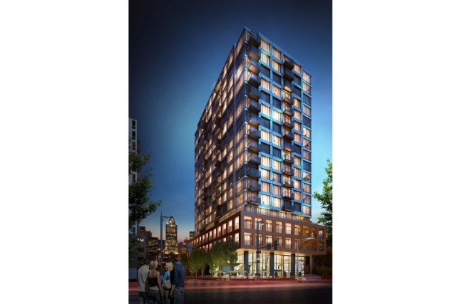 Le Wellington Griffintown sera construit au 163, rue... (Illustration fournie par GCA Immobilier)