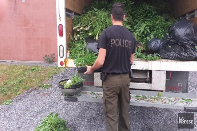 Les policiers de la SQ ont mené une... (Marie-Ève Martel)