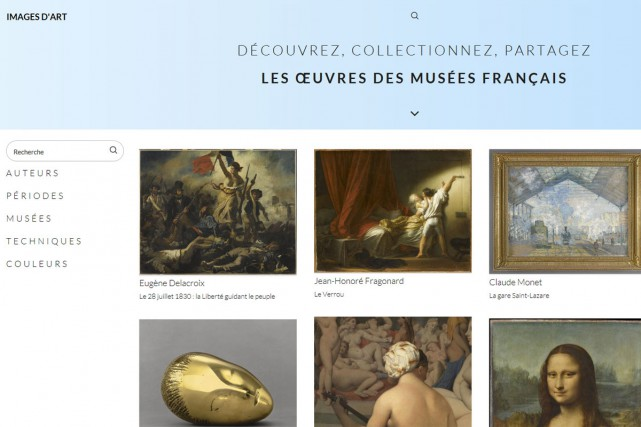 Un nouveau site internet lancé mercredi par les musées nationaux français,...