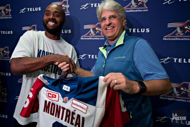 Le nouveau quart des Alouettes, Kevin Glenn, et... (Photo Olivier Jean, La Presse)