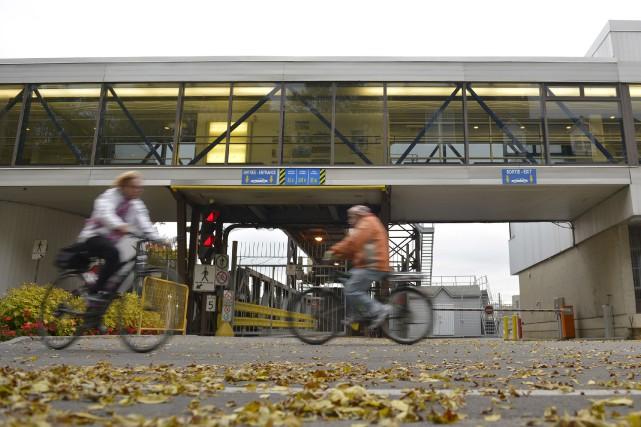 La gare fluviale à Québec était bien tranquille... (Le Soleil, Yan Doublet)
