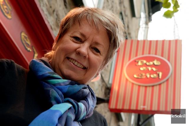 Lise Charest, propriétaire de la boutique Pot en... (Photo Le Soleil, Erick Labbé)