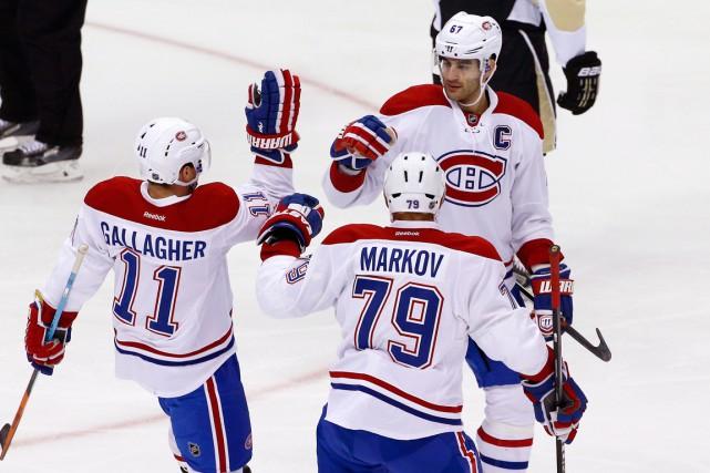 À l'image du Canadien,Max Pacioretty fait flèche de... (AP, Gene J. Puskar)