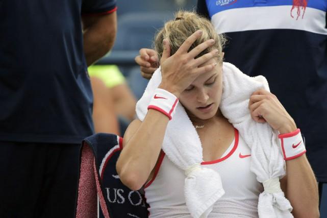 Eugenie Bouchardsouhaite être dédommagée puisque sa blessure subie... (PHOTO PC)