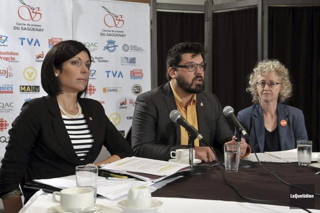 Karine Trudel dans Jonquière, Dany Morin dans Chicoutimi... ((Photo Le Quotidien, Jeannot Lévesque))