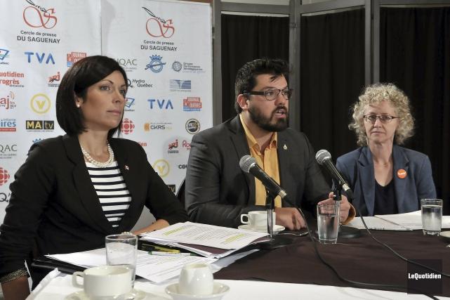 Les candidats du NPD dans la région, Karine... (Photo Le Quotidien, Jeannot Lévesque)