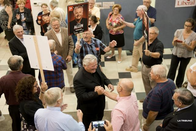 Le candidat libéral dans Sherbrooke, Tom Allen, a... (Imacom, Jessica Garneau)