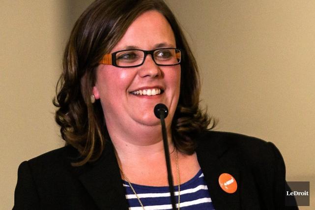 La candidate néo-démocrate Emilie Tamans'est dite déçue de... (Patrick Woodbury, Archives LeDroit)