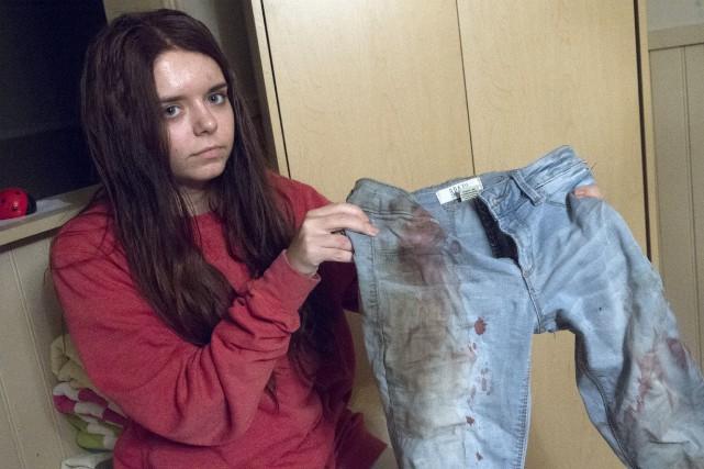 Après l'agression dont elle a été victime, les... (Stéphane Lessard)