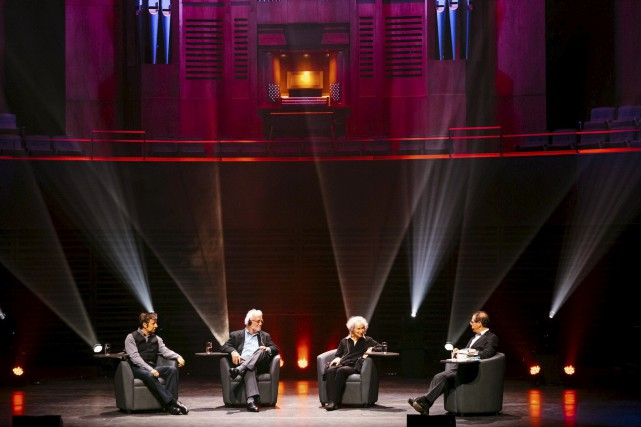 Robert Lepage, Russell Banks et Margaret Atwood ont... (Renaud Philippe)