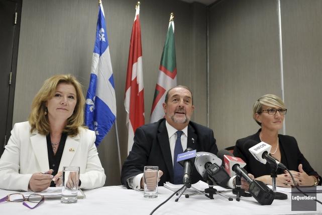 Les conservateurs Ursula Larouche, Denis Lebel et Caroline... (Photo Le Quotidien, Rocket Lavoie)