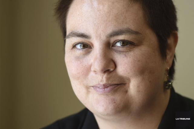 L'animatrice et chroniqueuse du 107,7 Estrie, Susan Léger,... (Archives, La Tribune)