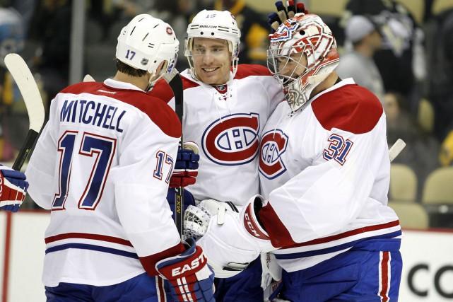 Les joueurs du Canadien ont obtenu congé d'entraînement... (Agence France-Presse)