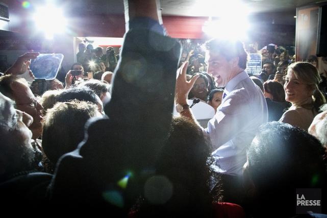 Justin Trudeau était de passage à Montréal ce... (PHOTO ALAIN ROBERGE, LA PRESSE)