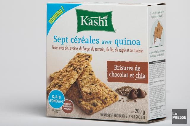 Barres Kashi sept céréales avec quinoa, brisures de... (PHOTO IVANOH DEMERS, LA PRESSE)