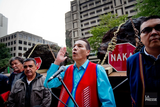 Le chef de la communauté innue Matimekush-Lac John,... (Photo Marco Campanozzi, archives La Presse)
