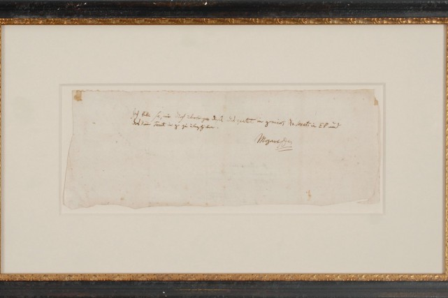 Une lettre écrite par Mozart à un ami autrichien, botaniste renommé, a été... (PHOTO AFP)