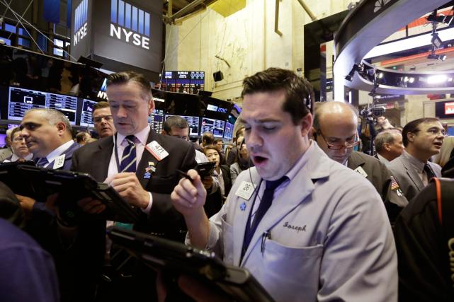 Après deux séances de baisse, le Dow Jones... (Photo Richard Drew, archives AP)