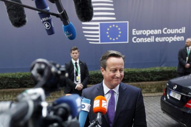 Le premier ministre David Cameron, au Conseil de... (Photo Francois Walschaerts, AP)