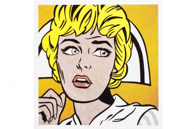 Nurse, de Roy Lichtenstein... (Photo tirée de l'internet)
