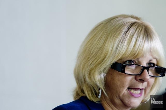 La présidente de la Fédération des commissions scolaires... (Marco Campanozzi, La Presse)