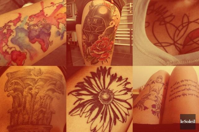 CHRONIQUE / La dernière fois que je me suis fait tatouer, je n'ai pas eu un mot... (Infographie Le Soleil)
