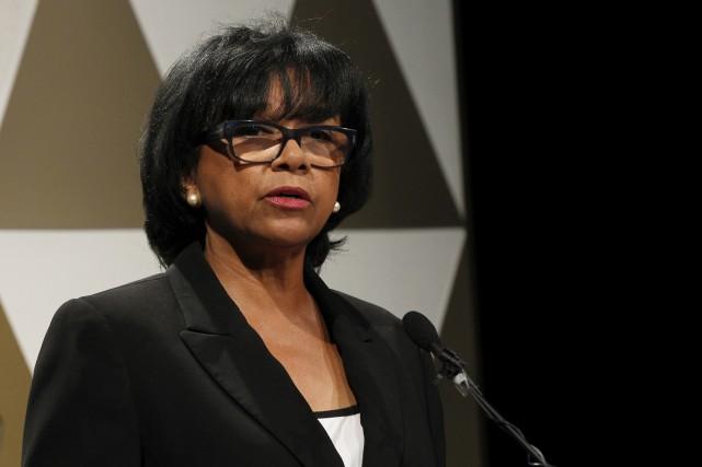 La présidente de l'académie hollywoodienne du cinéma,Cheryl Boone... (The Associated Press)