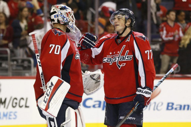 Braden Holtby a réalisé 26 arrêts et Alex Ovechkin a trouvé le fond du filet à... (Photo USA Today Sports)