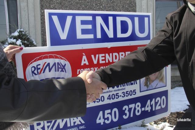 Pour le troisième trimestre de 2015, 144ventes résidentielles... (photo archives La Voix de l'Est)