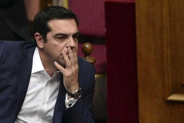 Le premier ministre grec Alexis Tsipras... (PHOTO LOUISA GOULIAMAKI, AFP)