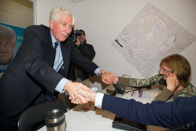 Prédisant un gouvernement libéral, Gilles Duceppe appelle les... (Photo Graham Hughes, La Presse Canadienne)
