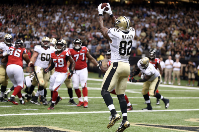 Ben Watson a inscrit un touché pour les... (Photo Chuck Cook, USA Today)