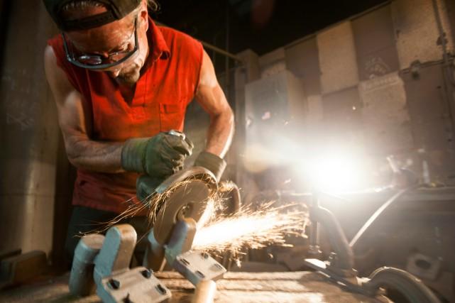 Sur les cinq derniers mois, la production industrielle... (PHOTO TY WRIGHT, ARCHIVES BLOOMBERG)