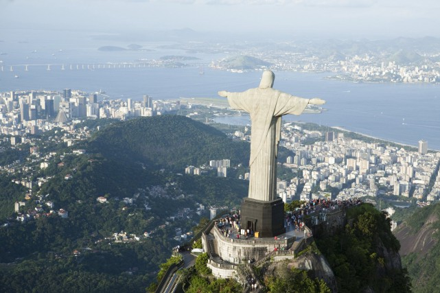 La statue du Christ rédempteur est un emblème... (Photo Digital/Thinkstock)