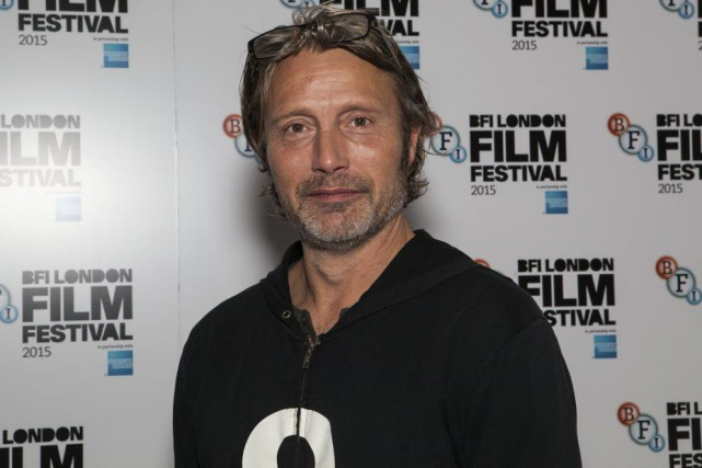 Mads Mikkelsen au Festival du film de Londres.... (PHOTO AP)