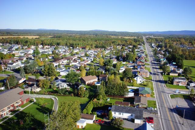 Vue aérienne de la municipalité de Saint-Honoré.... (Développement Saint-Honoré)