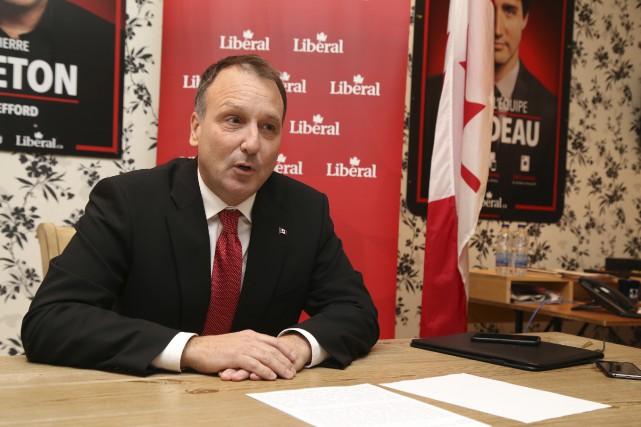 Le candidat libéral dans Shefford Pierre Breton est... (Photo Janick Marois)