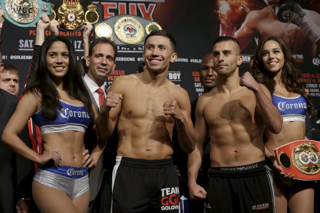Gennady Golovkin et David Lemieux ont participé à... (Mary Altaffer, Associated Press)