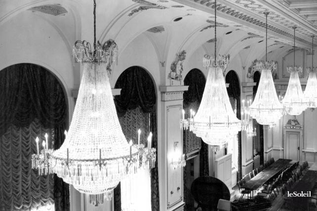 La salle de bal du Château Frontenac en... (Archives Le Soleil)