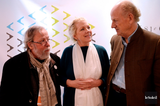 Emile Martel, Jennifer Clement et John Ralston Saul... (Erick Labbé, Le Soleil)