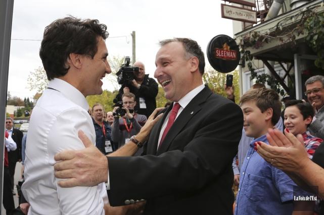 Un des moments forts de la campagne libérale... (photo archives La Voix de l'Est)