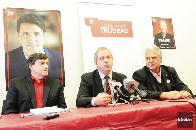 Denis Lemieux, Sabin Simard et Marc Pettersen, ont... (Photo Le Quotidien, Gimmy Desbiens)